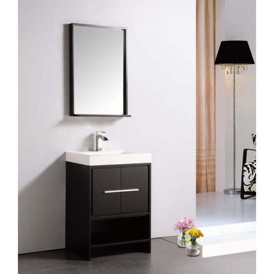 "Dowell 24"" 007 24 03 Modern Single Sink Bathroom Vanity Espresso Color"