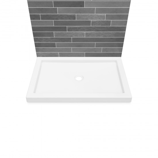 "Maax B3Square Double threshold 48"" x 32"" x 3"" Acrylic Shower Base"