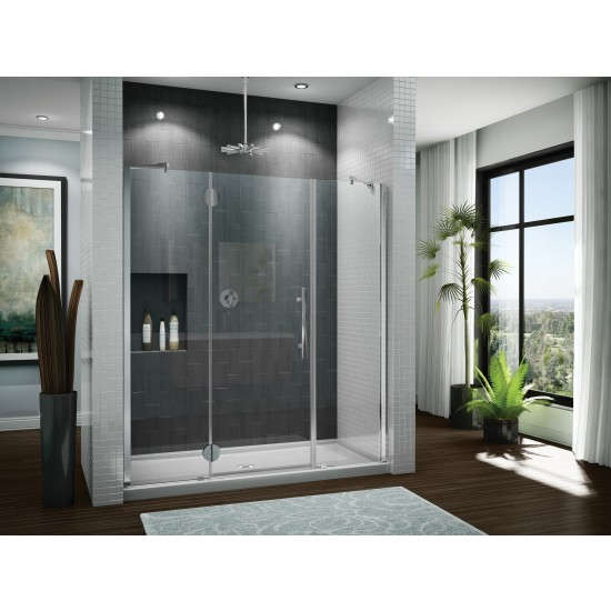 "Fleurco Platinum In-line 55 3/16"" to 56 7/16"" x 75"" Panel-Door-Panel (Cont'D)"