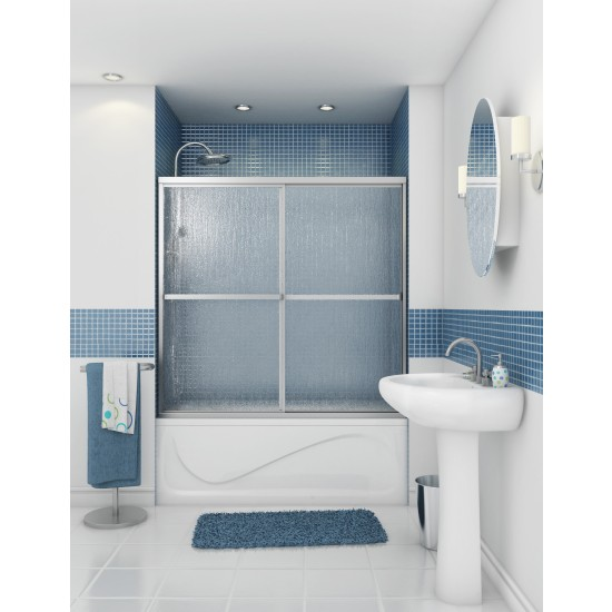 "Maax Tub Shower 3/16"" Polar 2-panel 54 - 59 1/2 "" x 68 "" Sliding door"