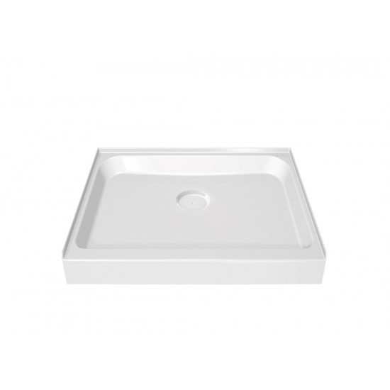 "Maax Square Single threshold 42"" x 42"" x 5"" Acrylic Shower Base"