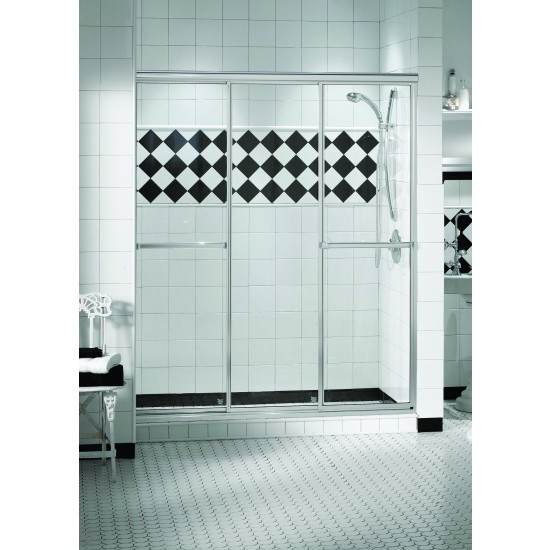 "Maax Triple Plus 3-panel 1/4"" Sliding 40"" x 66"" Aclove shower door Chrome"