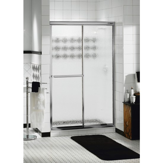"Maax Décor Plus 2-panel 1/4"" Sliding 43"" x 69"" Chrome Aclove shower door"
