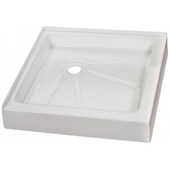 "Fleurco Acrylic Shower Base 32""x32""x4 1/2"" Square corner drain"