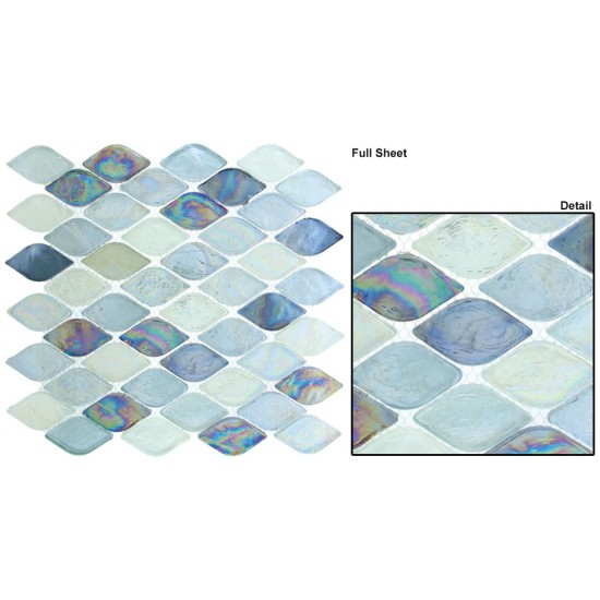 "Aquatica srs. AQ2005 Atlantis Mosaic 12"" x 12"" Set of 5 pcs."