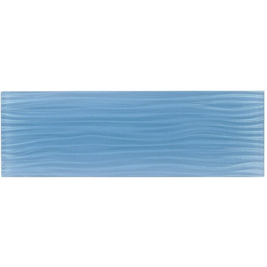 "Crystile Wave srs. C09-W Blue Sea Foam Mosaic 4"" x 12"" 5 pcs. per Box"