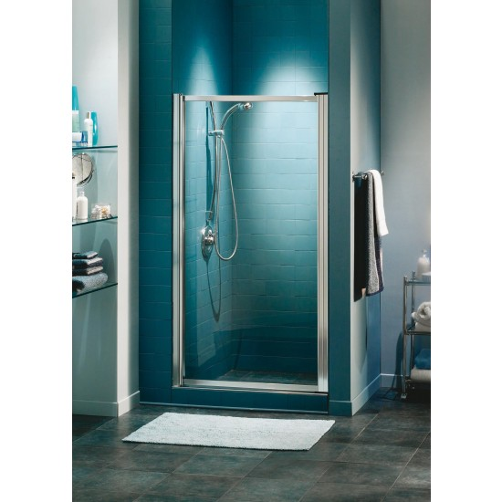 "Maax Pivolok 1-Panel 3/16"" Pivot 21"" - 22 3/4"" x 64 1/2"" Aclove shower door"