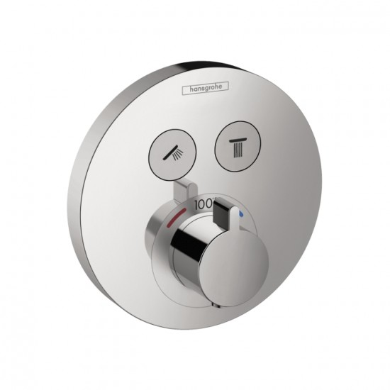 Hansgrohe ShowerSelect Round Thermostatic 2-Function Trim