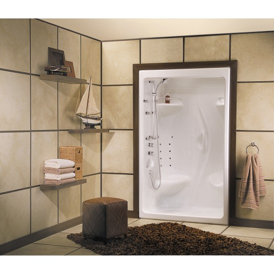 """Maax 51 """" x 36 """" x 85 """" Stamina 48-I (1-piece) Acrylic Alcove Shower unit (with roof cap)"""