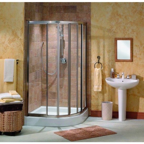 "Maax Contoura Neo-Round 3/16"" Corner 32 "" x 70 "" Sliding Shower door"