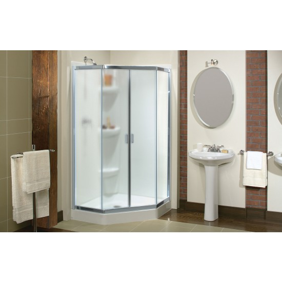 "Maax Intuition Neo-Angle 1/4"" Corner 38 "" x 70 "" Sliding Shower door"