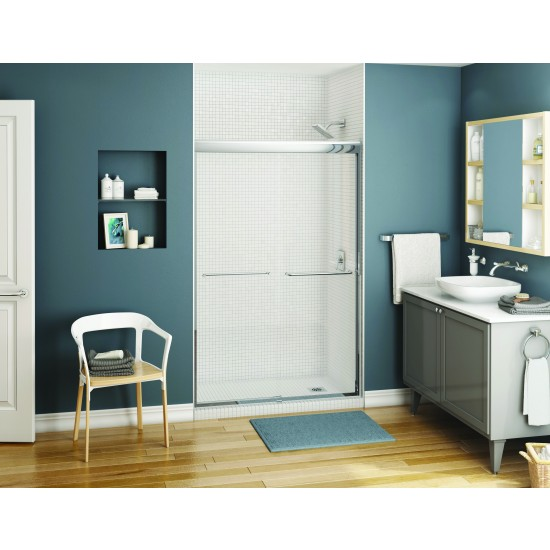 "Maax Kameleon 5/16"" Semi-frameless 43"" - 47"" x 71"" Sliding Shower door"