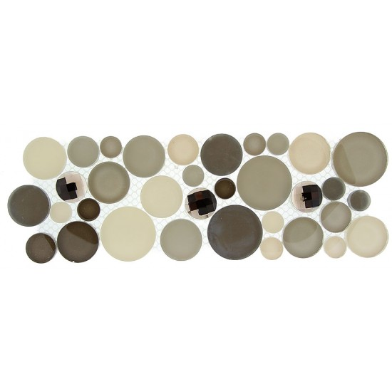 "Symphony Bubble Borders srs. SLS1615 Platinum Foam Mosaic 4"" X 12"" 5 pcs."
