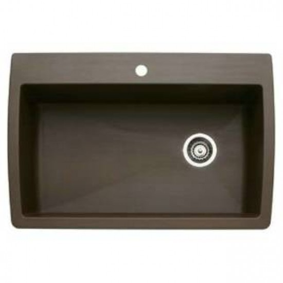 Blanco 440192 Diamond Super Single Bowl Silgranit Drop In Kitchen Sink Cafe Brown