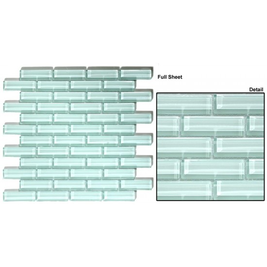 "Crystile srs. C01-2 Ice Mist Glossy Mosaic 12"" x 12"" Set of 5 pcs."