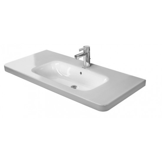 Duravit 232010 DuraStyle 39-3/8 x 18-7/8 Inch Drop In Bathroom Sink with Overflow