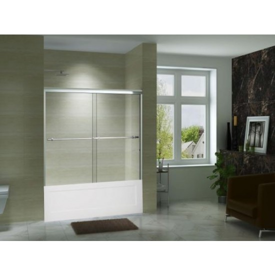 "Art Of Bath Tub Door V6060 , Clear 5/16"" Glass Door"