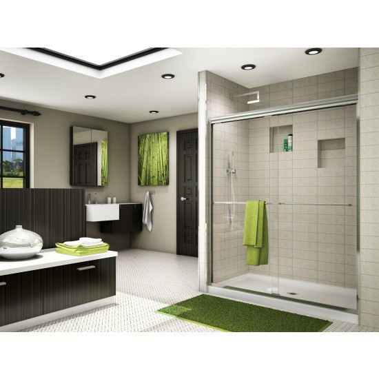 "Fleurco Banyo Cordoba Bypass 56"" x 70"" Semi-frameless Sliding Shower door"