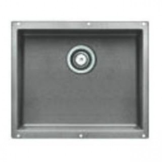 Blanco 513429 Precis Large Single Bowl Sink in Metallic Gray