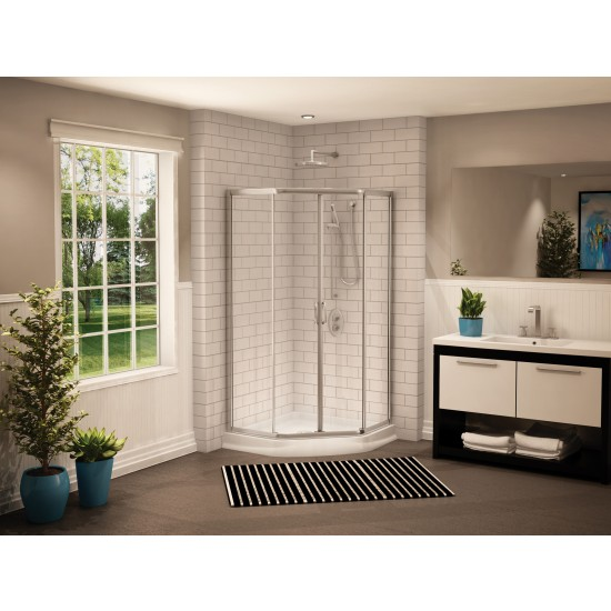 "Fleurco Signature Capri Neo-angle 36"" x 70"" Sliding Shower door"