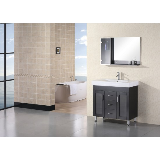 "Design Element Miami 36"" Single Drop-In Sink Vanity DEC021"