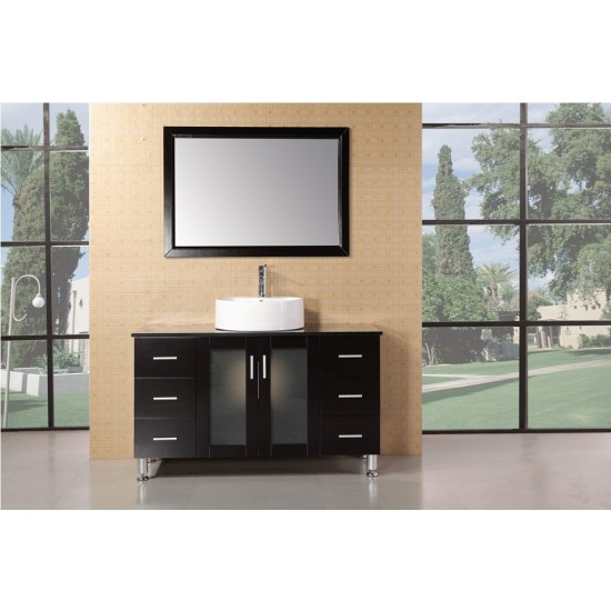"Design Element Malibu 48"" Single Sink Vanity Set in Espresso Finish DEC066C-E"