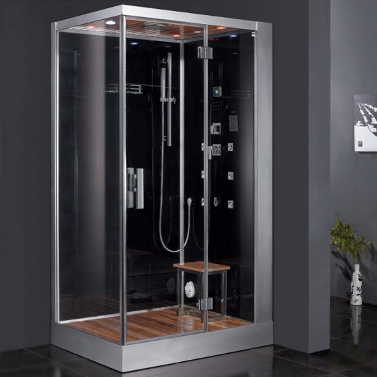 Ariel Platinum DZ959F8 Black Right Steam Shower