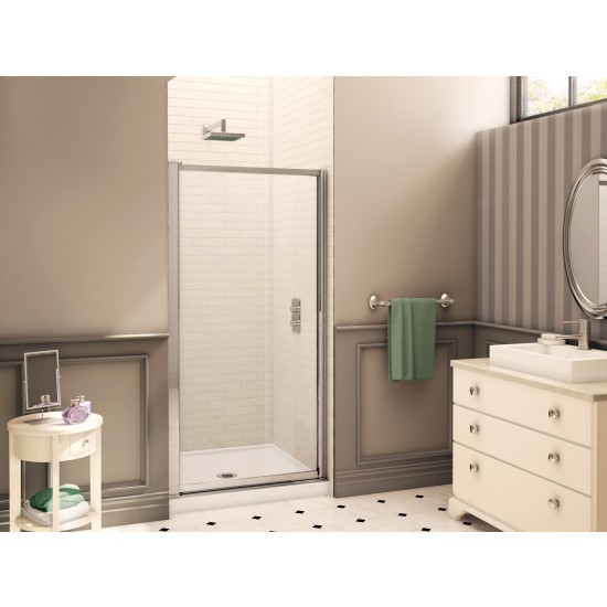 "Fleurco Signature Montreal 33"" x 65"" Frameless Pivot Shower door"