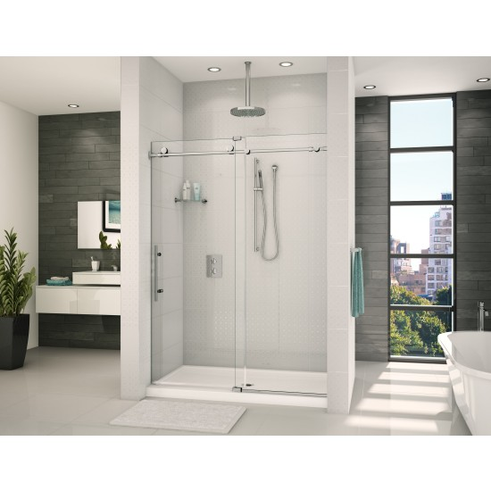 "Fleurco K2 in-line 72"" x 79"" Shower sliding door with fixed panel"