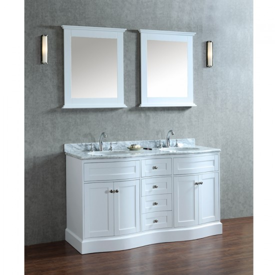 "Ariel by Seacliff Montauk 60"" Double-Sink Bathroom Vanity Set"
