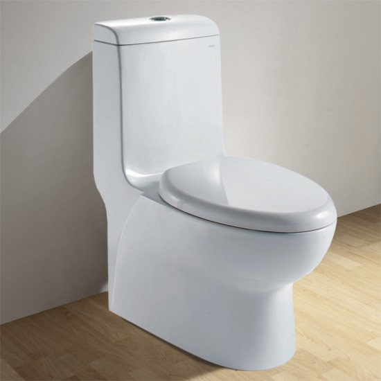 Ariel CO1038 Contemporary European Toilet with Dual Flush