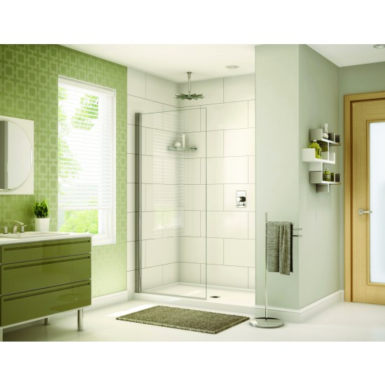 "Fleurco Banyo Siena Solo Shower Shield 34 1/4"" x 75"" Pivot Shower door"