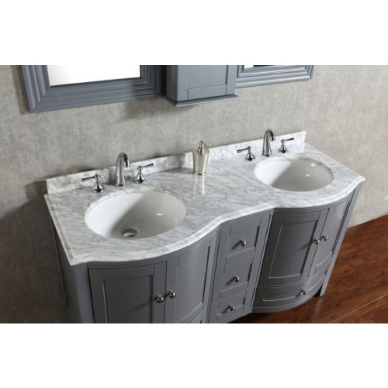 DiscoBath Blossom Rome 60 Double Sink Contemporary Bathroom Vanity In