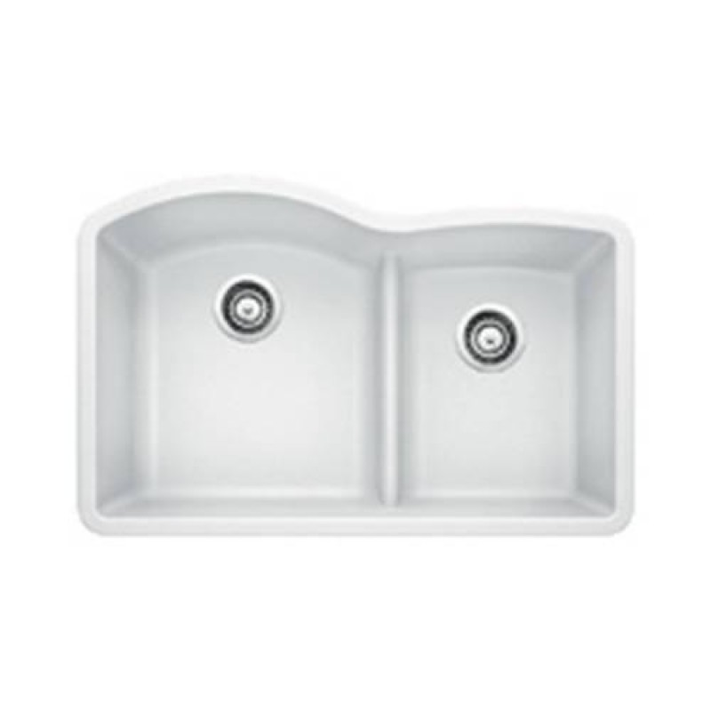 DiscoBath - Blanco 4415 Diamond 1.75 Low Divide Under Mount Double ...