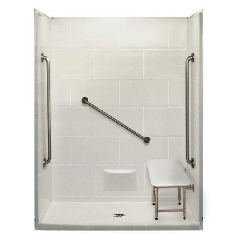 DiscoBath - Plus 36 32 in. x 62 in. x 79 in. 5-piece Shower Kit in ...