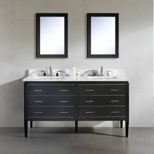 "Dowell 60"" 001 60 02 Double Sink Modern Bathroom Vanity Black"