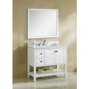 "Dowell 36"" 005 36 01 Traditional Single Sink Bathroom Vanity White"