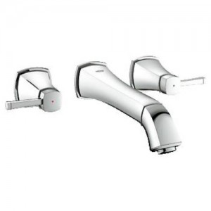 Grohe 20416 Grandera Wall Mounted Bathroom Faucet - Less Pop-Up Drain
