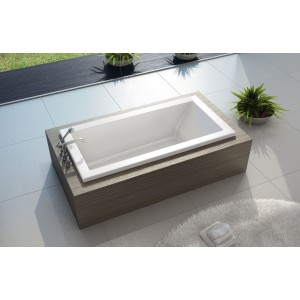 "Maax 72"" x 36"" x 24"" KAVA 7236 Acrylic Soaking Bathtub"