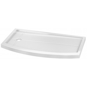 "Fleurco Acrylic Shower Right side Base 30""x60""x3"" Bowfront Quad side drain"