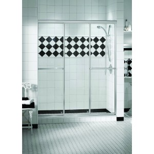 "Maax Triple Plus 3-panel 1/4"" Sliding 54 1/2"" x 66"" Aclove shower door"
