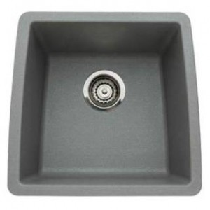Blanco 440082 Performa Metallic Gray Single Bowl Silgranit Undermount Kitchen Sink