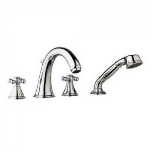 Grohe 25506-18733 Geneva Roman Tub Filler with Cross Handles