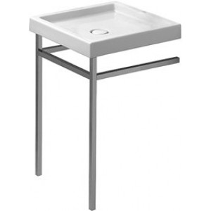 Duravit 230557 Starck 1 22-5/8 x 22-5/8 Inch Square Furniture Wash Basin with WonderGliss