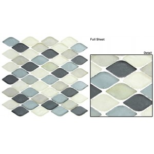 "Aquatica srs. AQ2006 Grey Scale Mosaic 12"" x 12"" Set of 5 pcs."