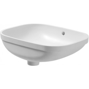 Duravit 0338560000 D-Code 22-7/8 x 15-3/4 Inch Drop In Undercounter Bathroom Sink with Overflow