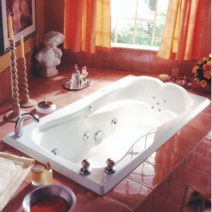 "Neptune Melia 66""x34"" Mass-Air/Whirlpool Combo Tub"
