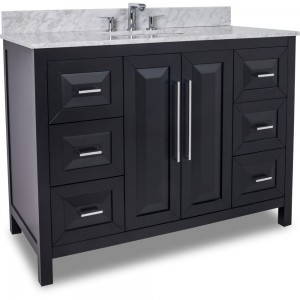 "Hardware resources Cade Contempo 48"" vanity with black finish"