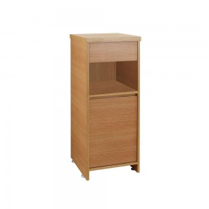 Virtu USA Raynard Vanity Side Cabinet, 15.7-Inch Wide, 14.6-Inch Deep, 42.1-Inch High, Chestnut Finish