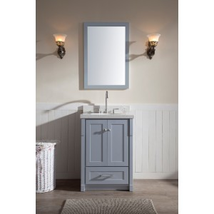 "Ariel Adams 25"" Single Sink Vanity Set in Grey"
